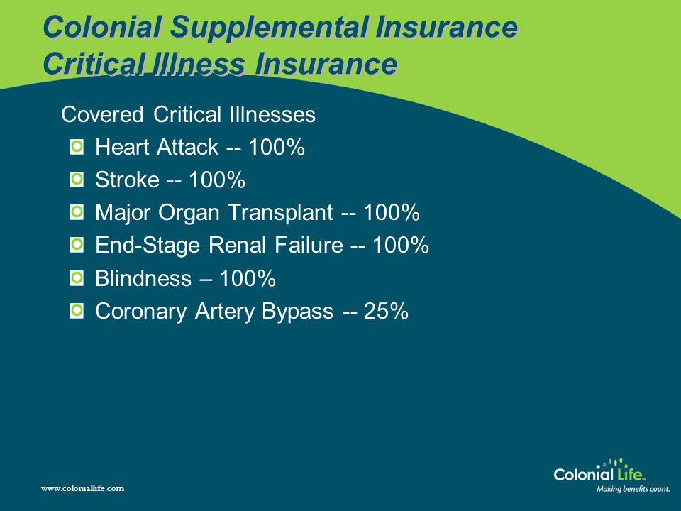 Colonial Supplemental Insurance Critical Illness Insurance