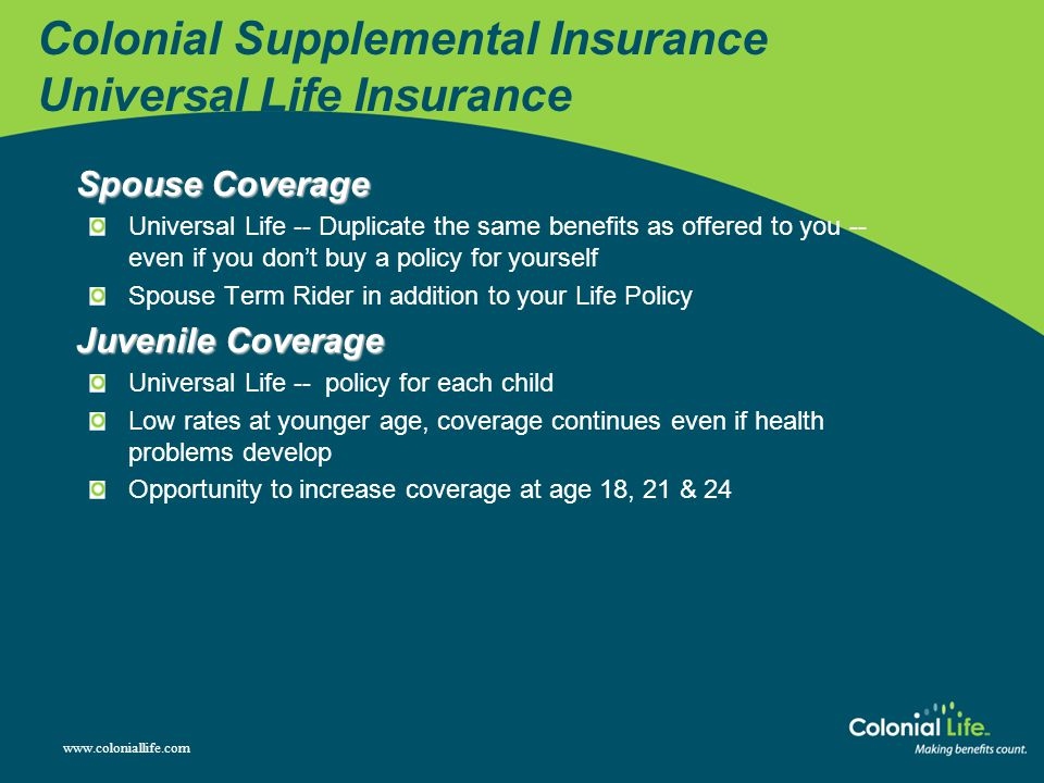 Colonial Supplemental Insurance Universal Life Insurance
