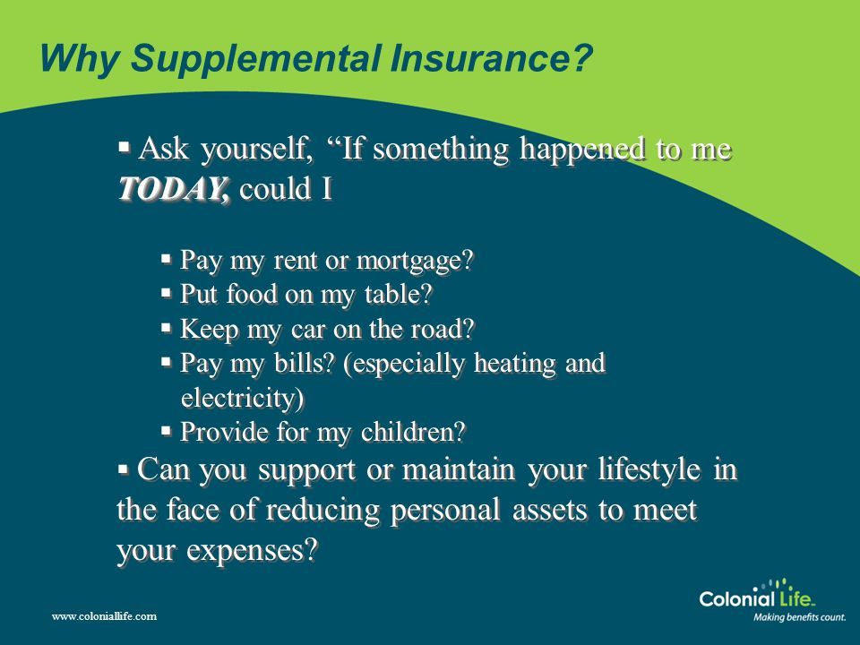 Why Supplemental Insurance