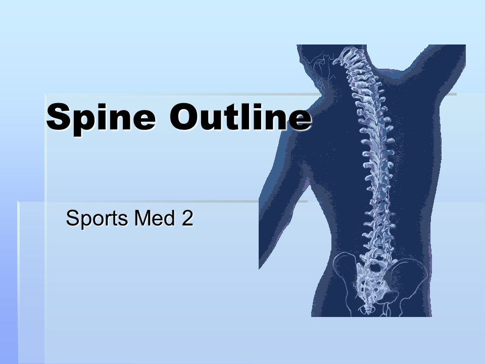 Spine Outline Sports Med 2
