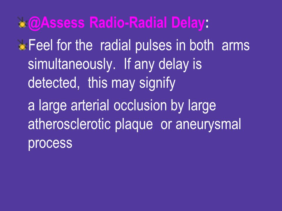 @Assess Radio-Radial Delay: