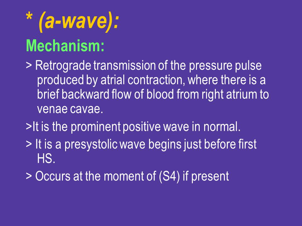 * (a-wave): Mechanism: