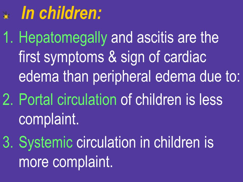 Portal circulation of children is less complaint.