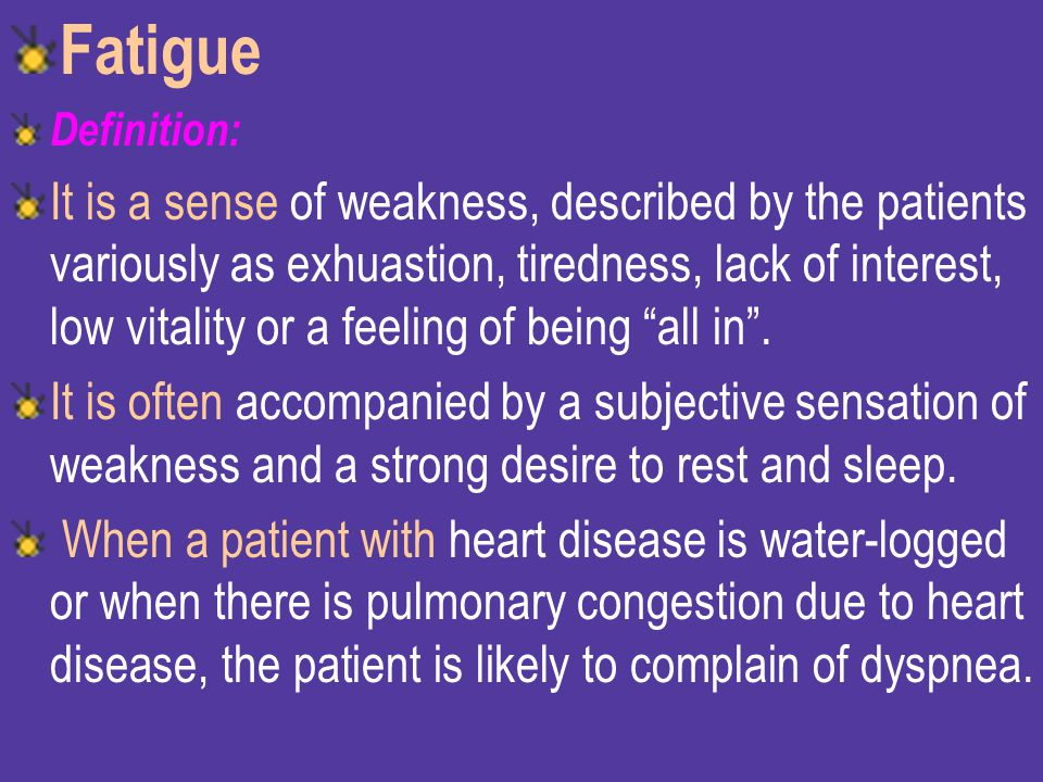 Fatigue Definition: