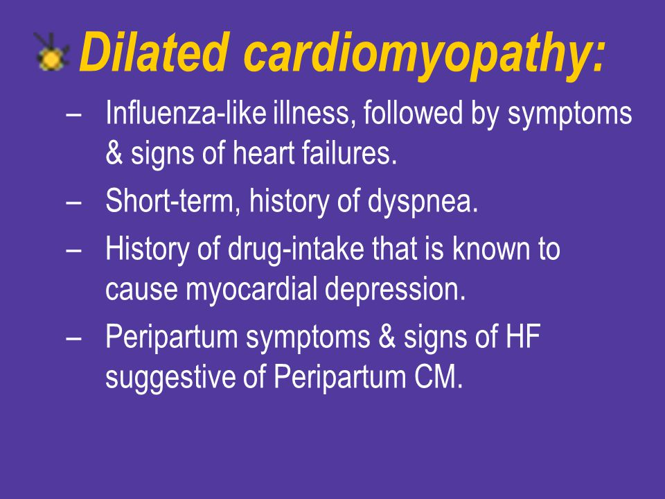 Dilated cardiomyopathy: