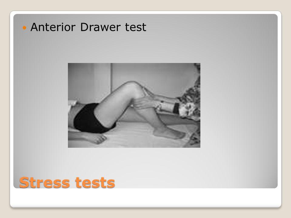 Anterior Drawer test Stress tests