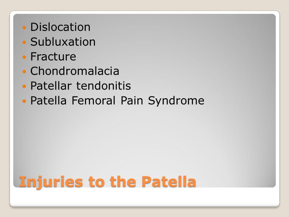 Injuries to the Patella