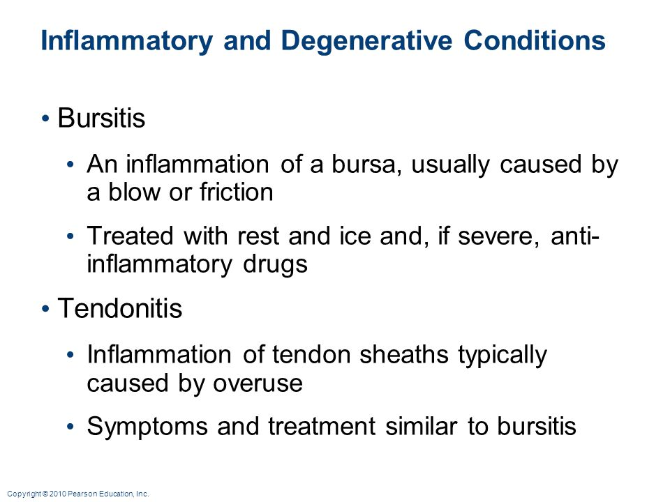 Inflammatory and Degenerative Conditions