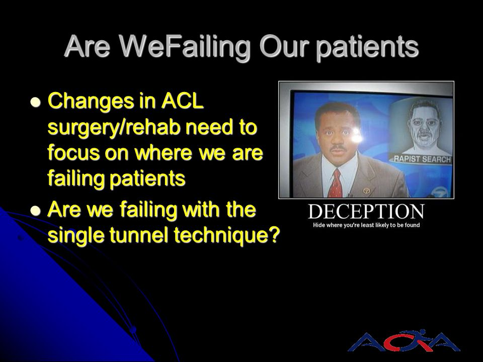 Are WeFailing Our patients