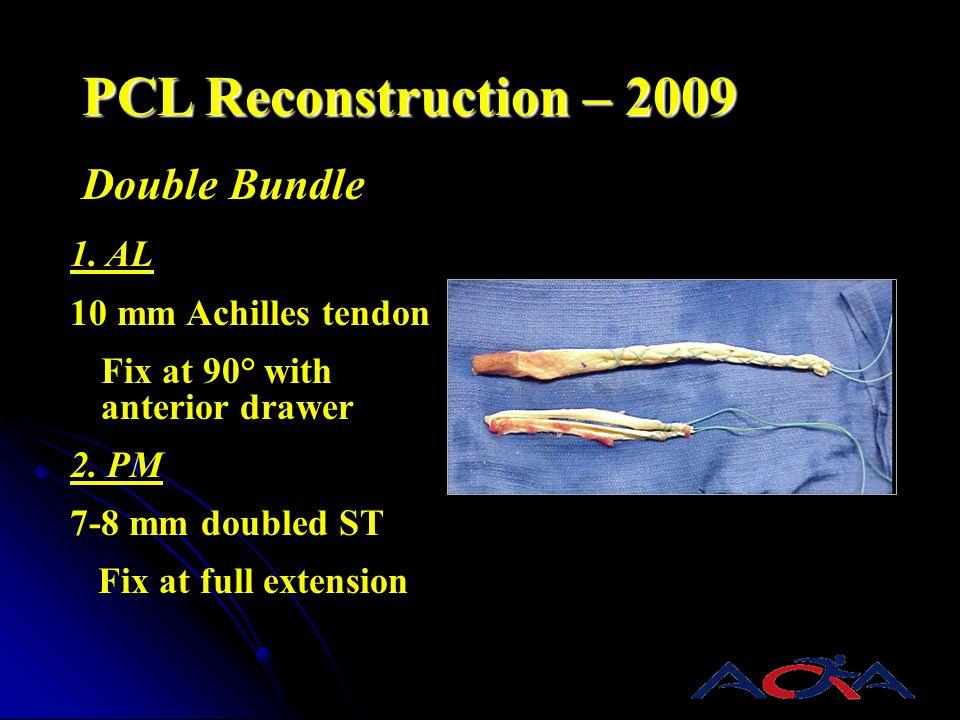 PCL Reconstruction – 2009 Double Bundle 1. AL 10 mm Achilles tendon