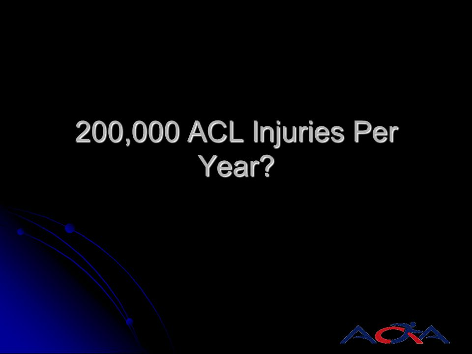 200,000 ACL Injuries Per Year