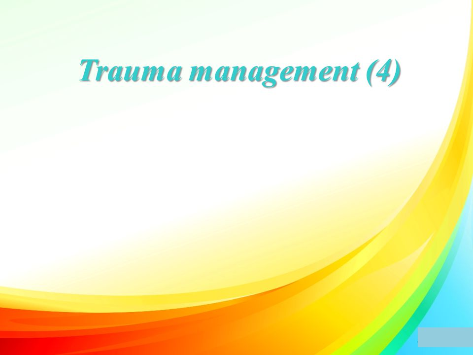 Trauma management (4)