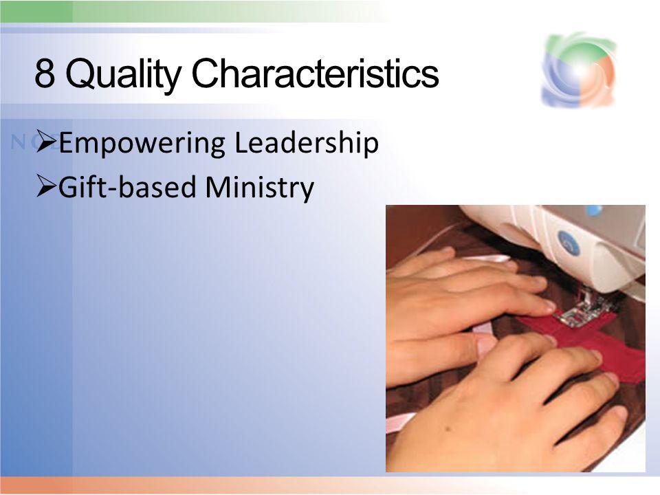 8 Quality Characteristics