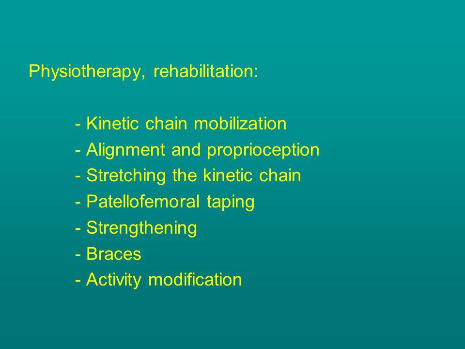 Physiotherapy, rehabilitation: