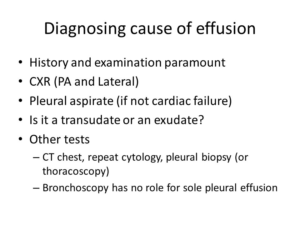 Diagnosing cause of effusion