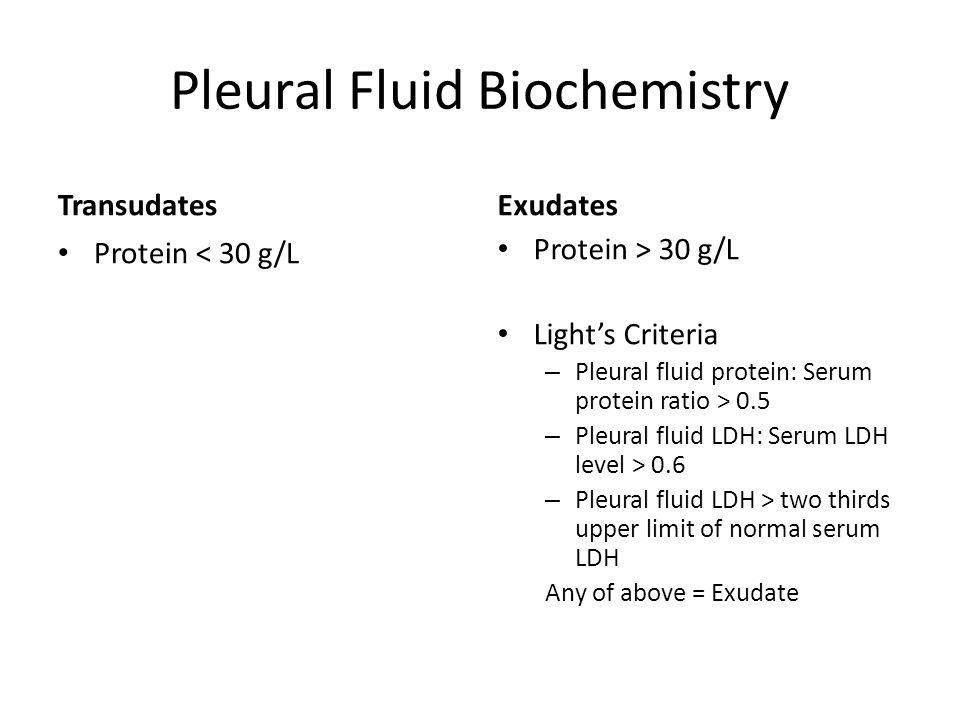 Pleural Fluid Biochemistry