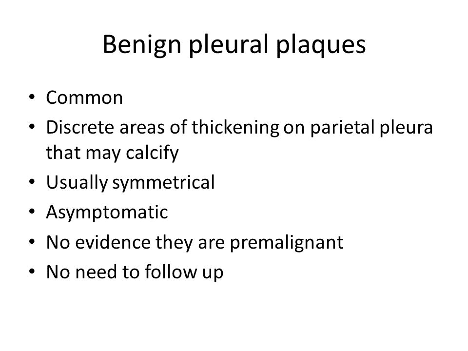 Benign pleural plaques