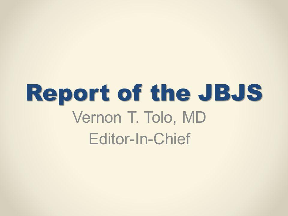 Vernon T. Tolo, MD Editor-In-Chief