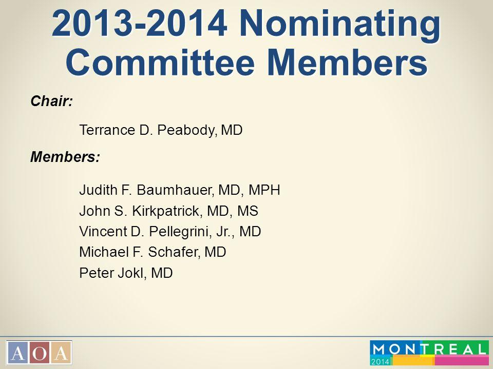 2013-2014 Nominating Committee Members