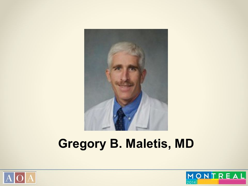 Gregory B. Maletis, MD