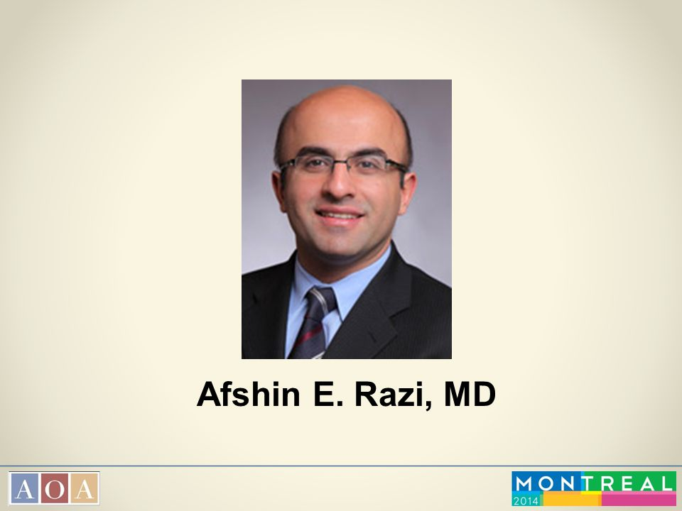 Afshin E. Razi, MD