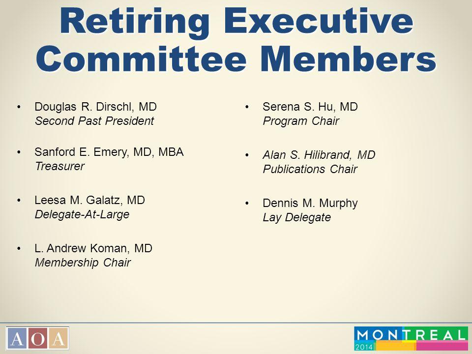 Retiring Executive Committee Members