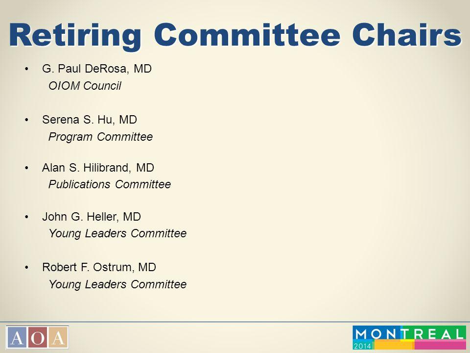 Retiring Committee Chairs