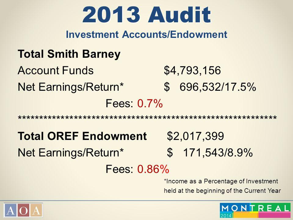2013 Audit Investment Accounts/Endowment