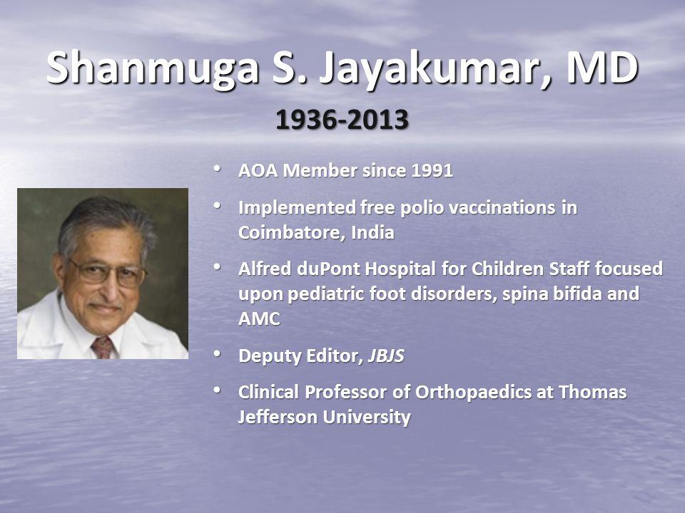 Shanmuga S. Jayakumar, MD