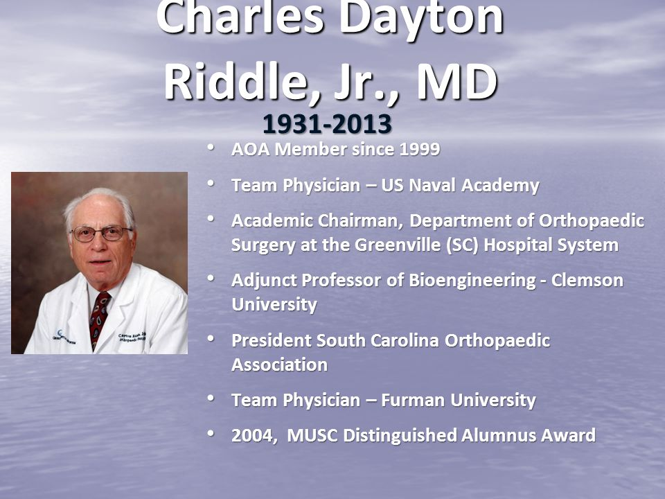 Charles Dayton Riddle, Jr., MD