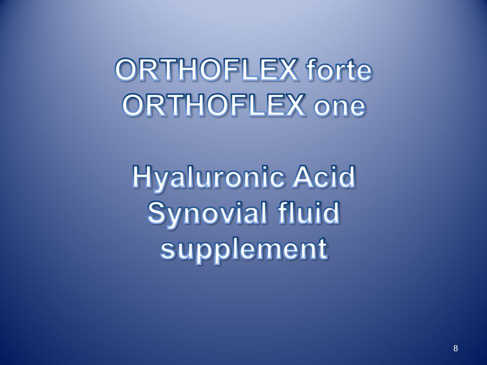 Hyaluronic Acid Synovial fluid supplement