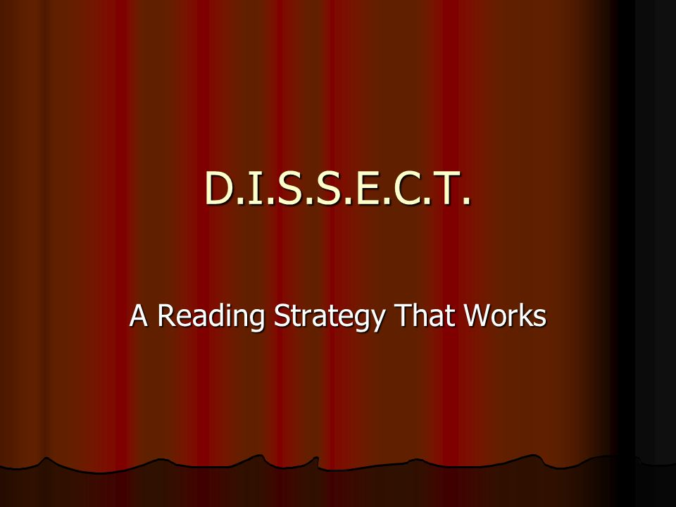 A Reading Strategy That Works