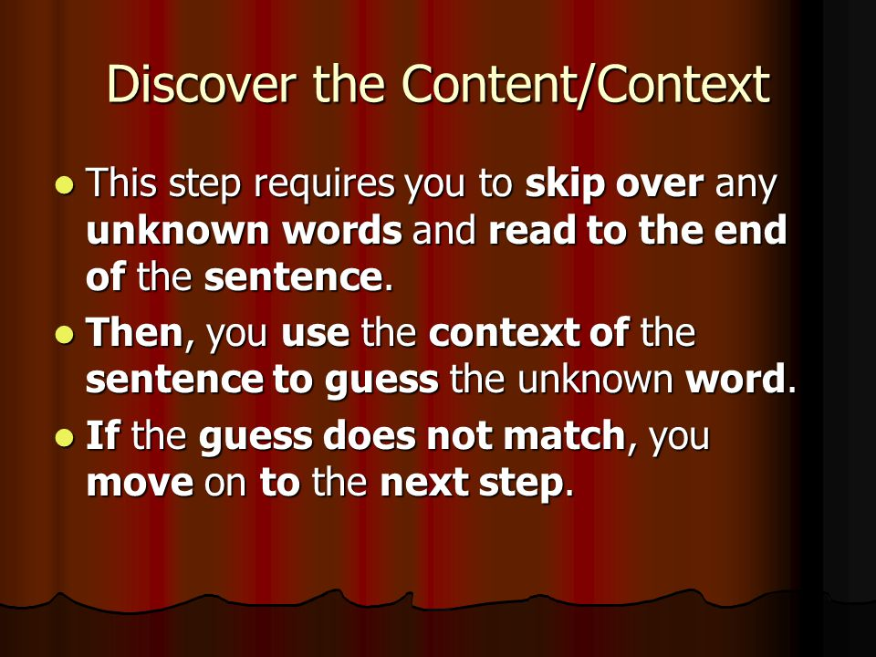 Discover the Content/Context
