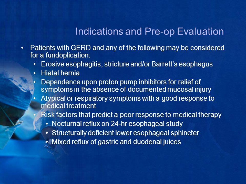 Indications and Pre-op Evaluation
