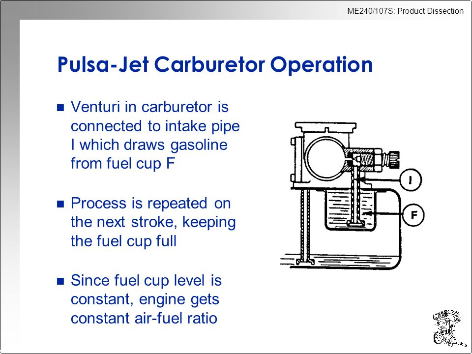 Pulsa-Jet Carburetor Operation