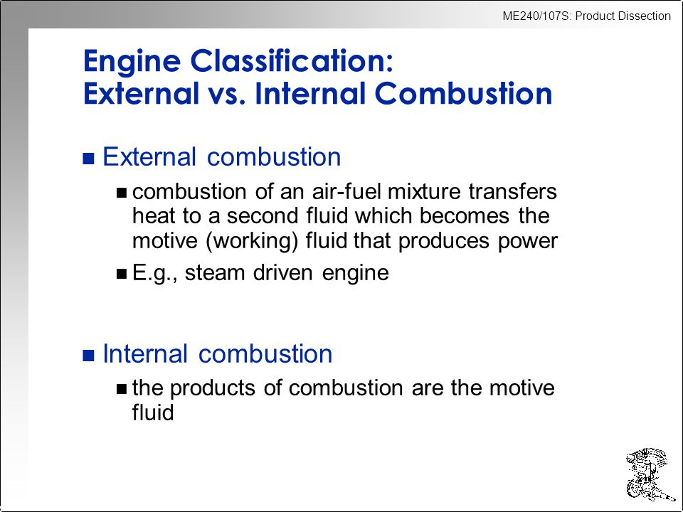 Engine Classification: External vs. Internal Combustion