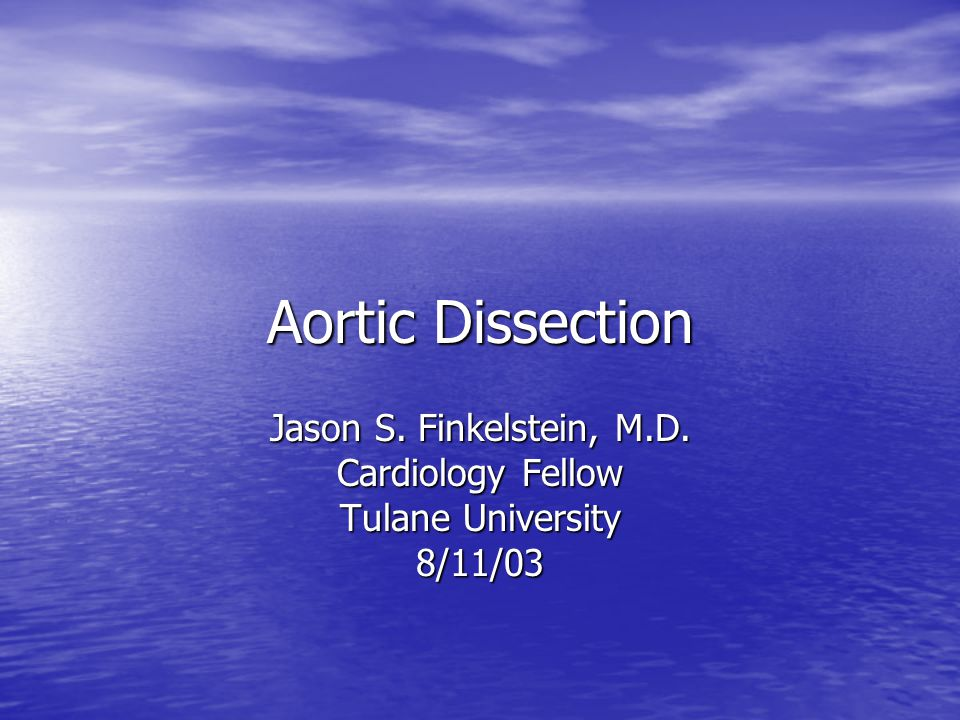 Jason S. Finkelstein, M.D. Cardiology Fellow Tulane University 8/11/03
