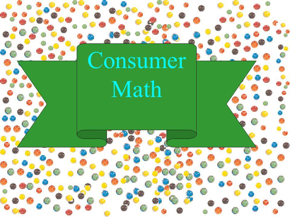 Consumer Math. - ppt download