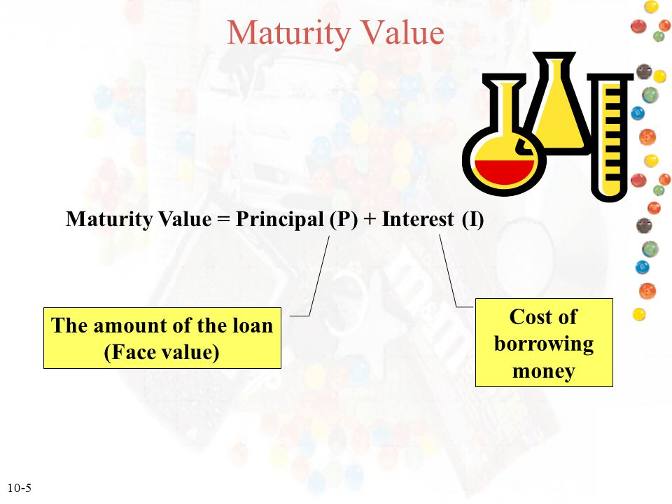 Maturity Value = Principal (P) + Interest (I)