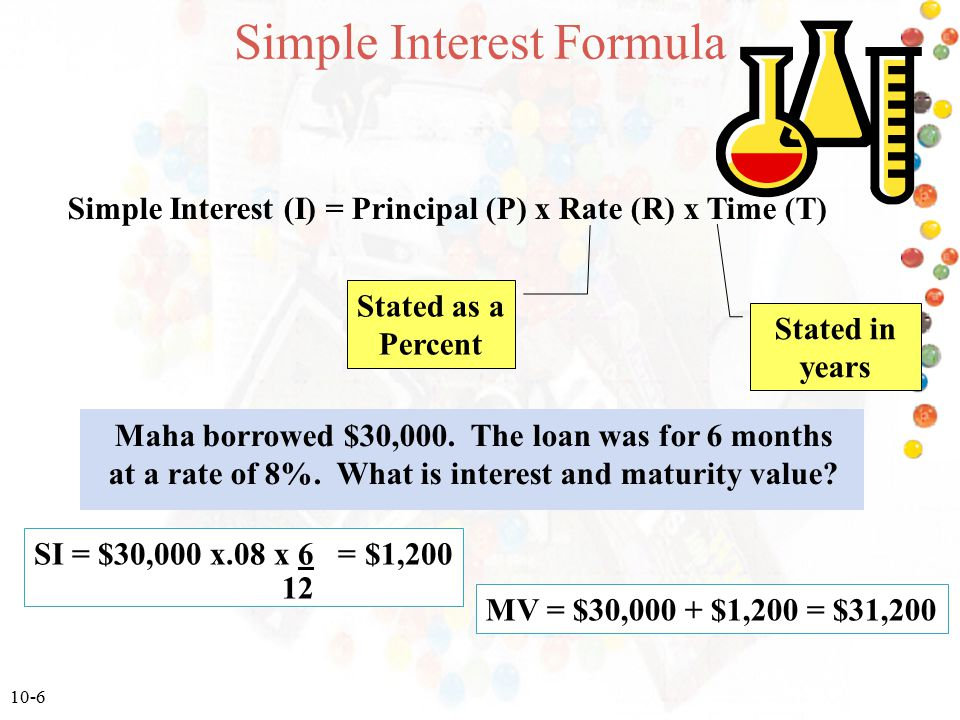 Calculate The Simple Interest And Maturity Value
