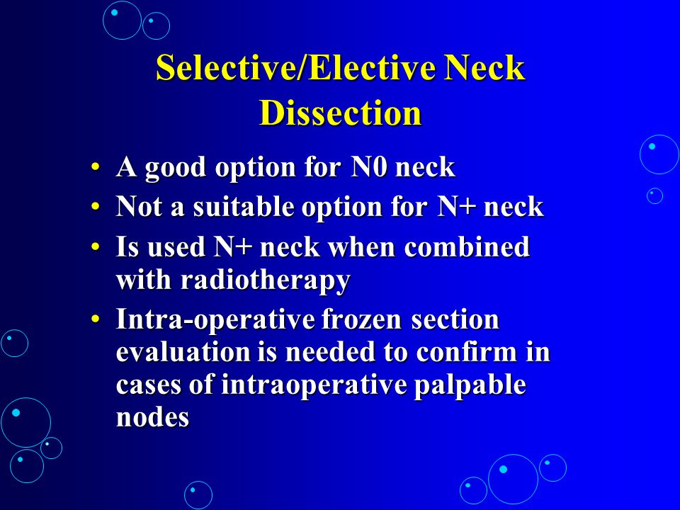 Selective/Elective Neck Dissection