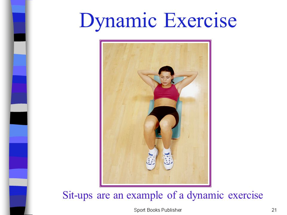 Sit-ups are an example of a dynamic exercise