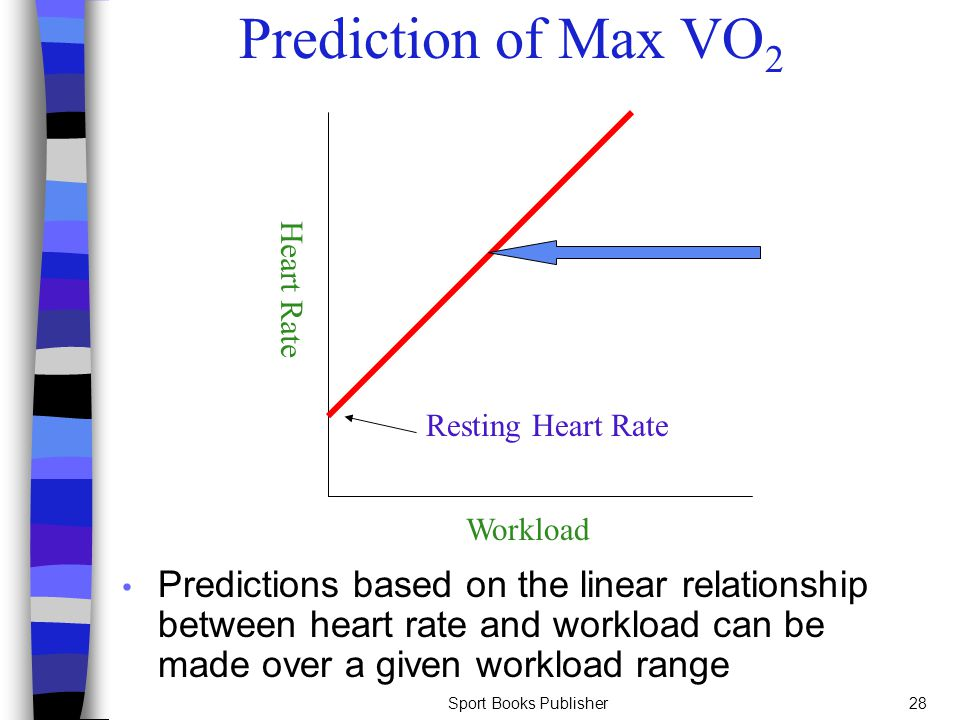 heart rate and vo2 linear relationship table