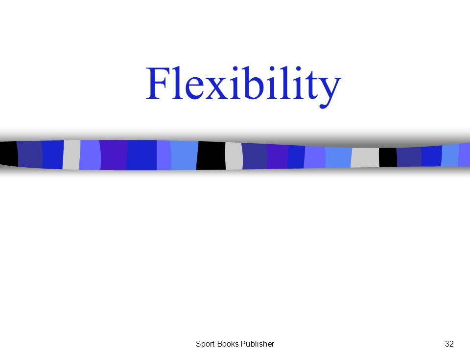 Flexibility Sport Books Publisher