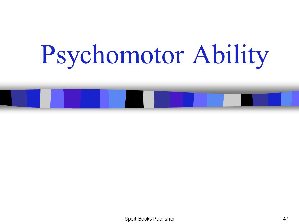 Psychomotor Ability Sport Books Publisher