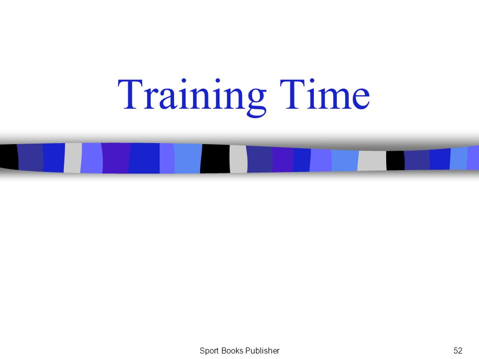 Training Time Sport Books Publisher