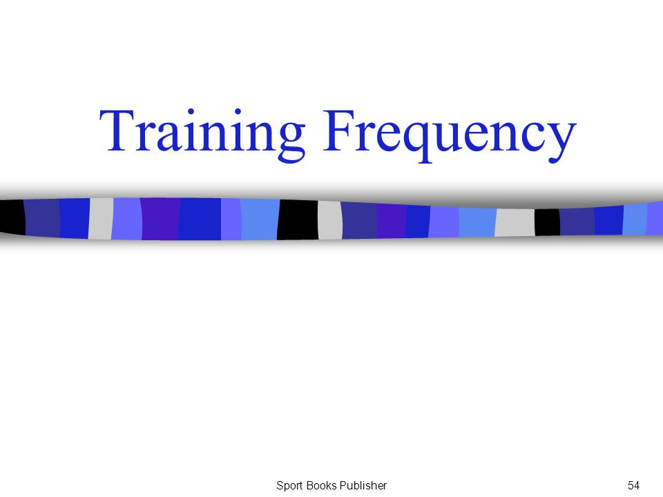 Training Frequency Sport Books Publisher