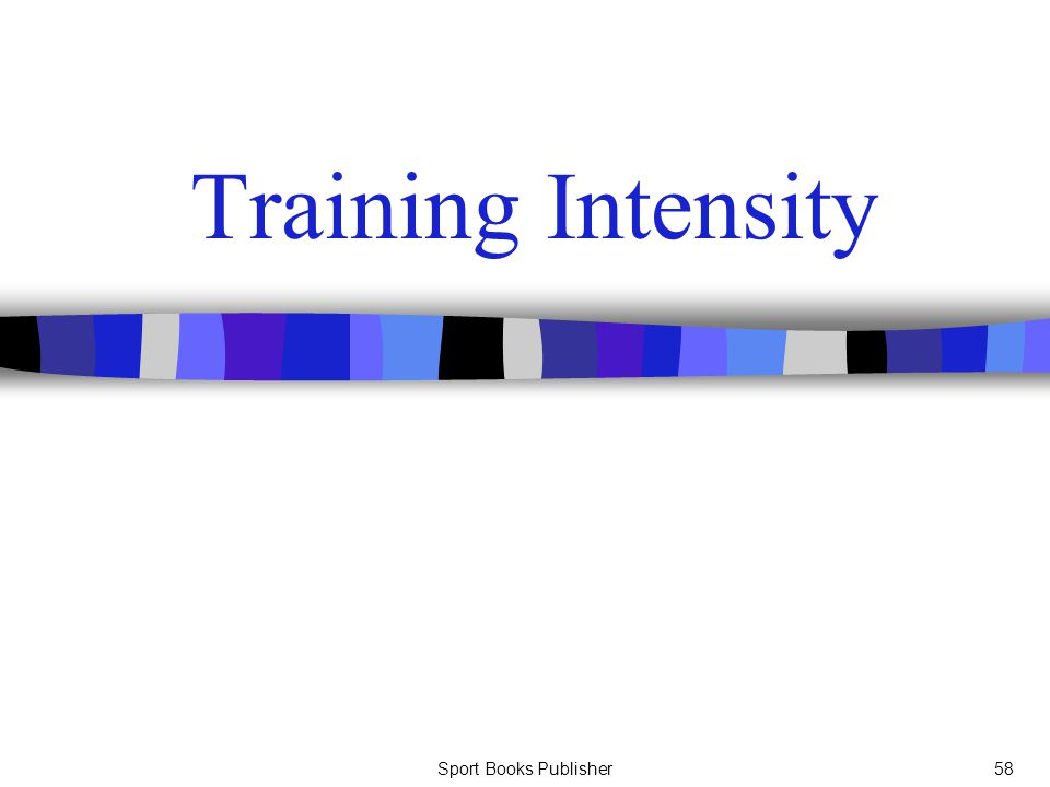 Training Intensity Sport Books Publisher