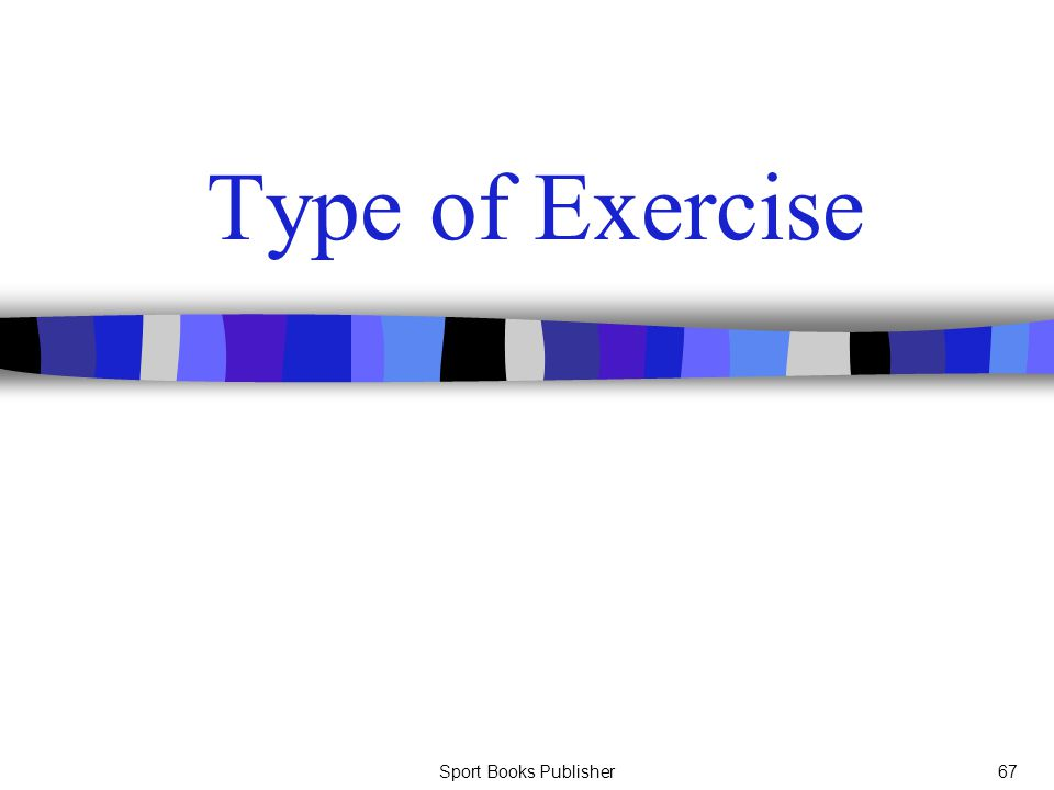 Type of Exercise Sport Books Publisher