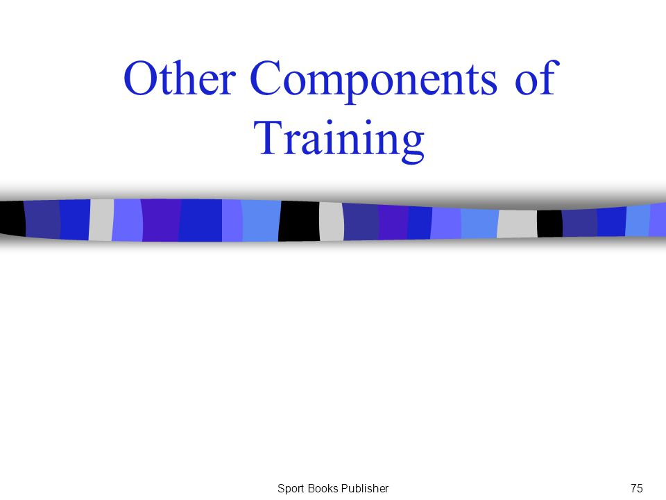 Other Components of Training
